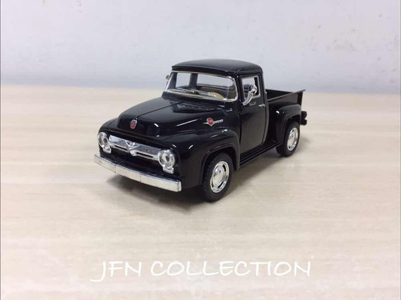 Miniatura Ford F100 1958 Escala 1/32 Pick-up Preta 13cm