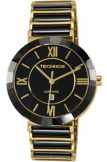 Relógio Technos Elegance Sapphire Cerâmica 2015bv/4p Promo