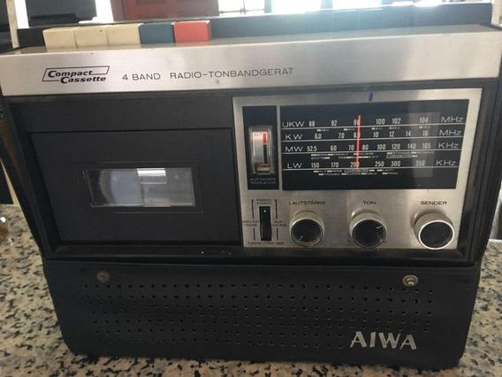 Radio Antigo Aiwa Tpr-101a Am Fm Toca Fitas