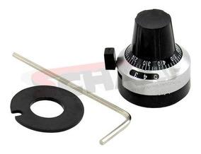 Botão Metálico Para Potenciômetro Multivoltas 3590s