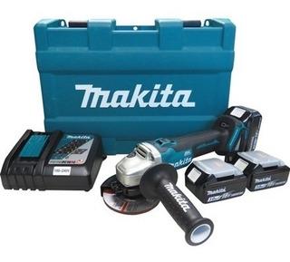 Esmerilhadeira Lixadeira Dga454rfe3 18v 3.0ah 115mm Makita