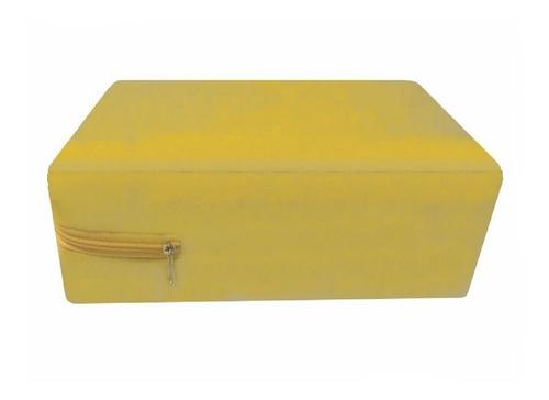 Imagem 1 de 3 de Capa Impermeável Para Colchão Amarela - Casal King