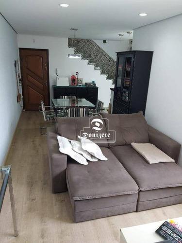 Cobertura Com 2 Dormitórios À Venda, 67 M² Por R$ 435.000,10 - Vila Pires - Santo André/sp - Co11668