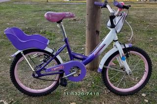 Bicicleta 16 Niña Bambina Massa Excelente Calidad