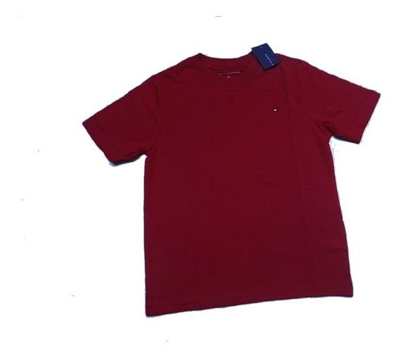 Camiseta Tommy Hilfiger Menino Bebe Básica Cores Original