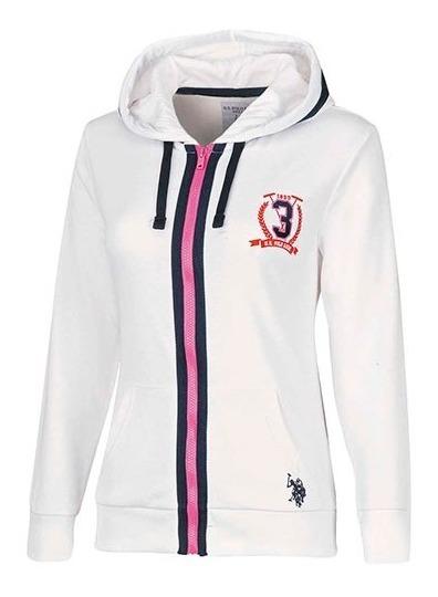Suéter U.s Polo Assn Lu4021-216 Blanco-marino Women Oi