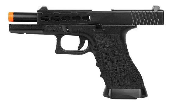 Pistola Airsoft Semi Metal Blowback Gbb Taitus G17 747 + Bbs
