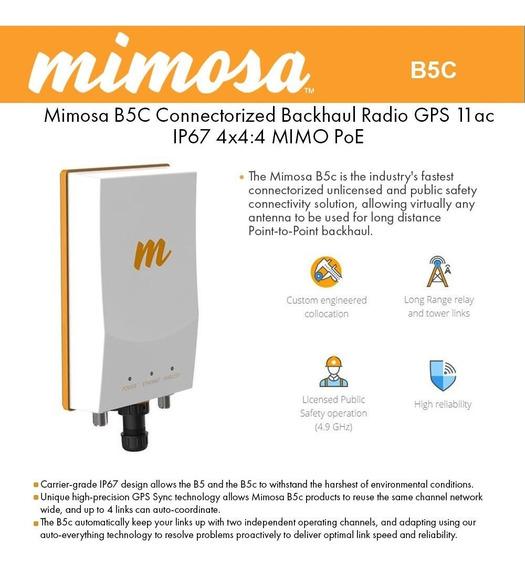 Mimosa Radio B5c 5ghz 1.7 Gbps Ptp Backhaul Poe 48v