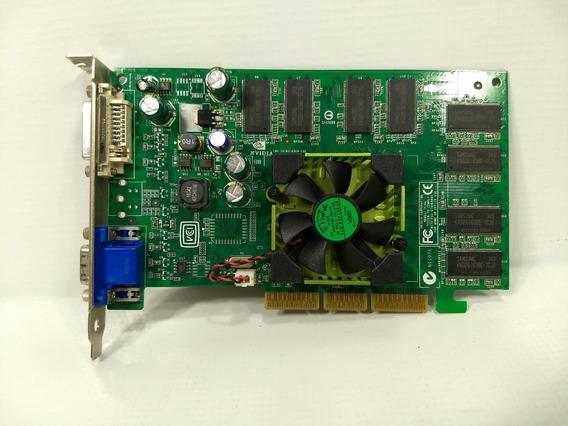 Antiga Placa Video Agp Nvida Quadro Fx500 Fx600 128mb Retro Game Pc