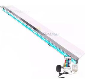 Cascata Para Piscinas Embutir Parede 1,5m 150cm Com Leds Rgb