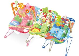 Silla Mecedora Bebé Con Juguetes Vibración Varios Colores
