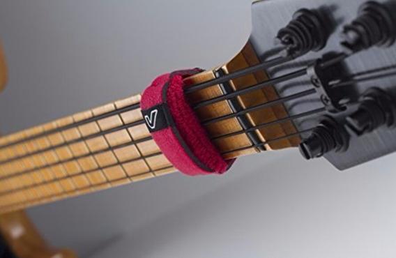 Fretwrap Abafador De Cordas Vermelho Para Guitarra & Baixo