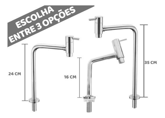 Torneira Aço Inox Pia Cozinha 1/4 Volta Design Moderno Luxo