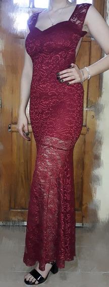 Vestido De Fiesta Bordó, Marta Carabelli
