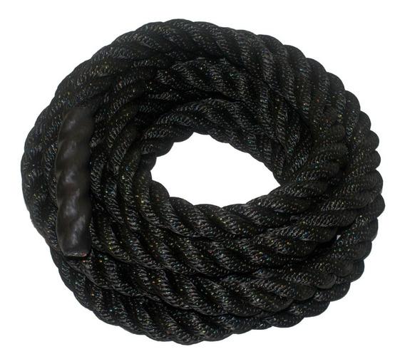 Cuerda, Soga Negra Para Crossfit 15 Metros 1.5 Pulgadas