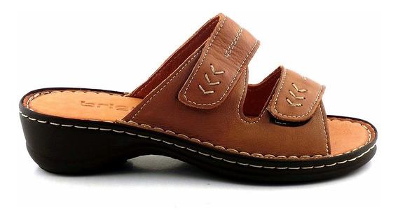 Chinela Mujer Cuero Briganti Sandalia Zapato - Mcch26005