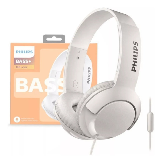 Fone Headphone Philips Shl3075 Bass + Branco Com Microfone