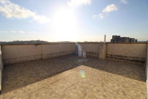 Imagem 1 de 25 de Cobertura Com 2 Dormitórios (1 Suíte) À Venda, 105 M² Por R$ 340.000 - Vila Nossa Senhora Das Vitórias - Mauá/sp - Co0109