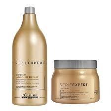 Combo Loreal Absolut Repair Shampoo X 1,5l+ Máscara X500grs