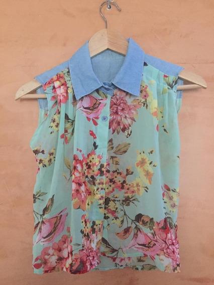 Blusa Estampado Flores Teen Talla 14