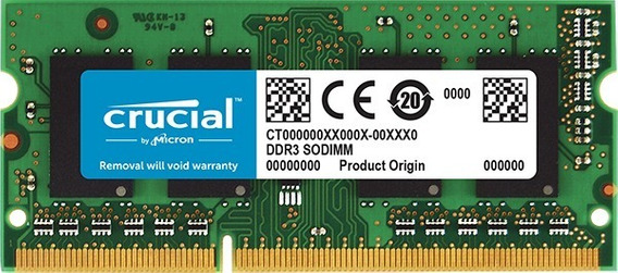 Memoria P/notebook Crucial Sodimm Ddr3l 4gb Ct51264bf160bj