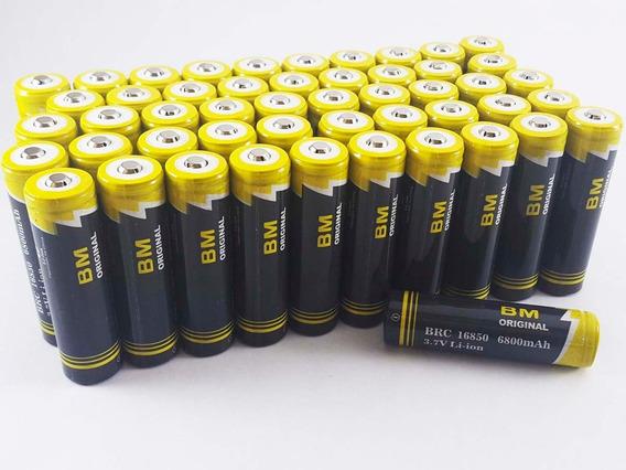 Kit 06 Baterias De Litio 18650 6800mah 3,7v Lanterna Tática