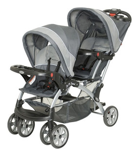 Carriola Doble Bebe Baby Trend Sit N Stand Reclinable