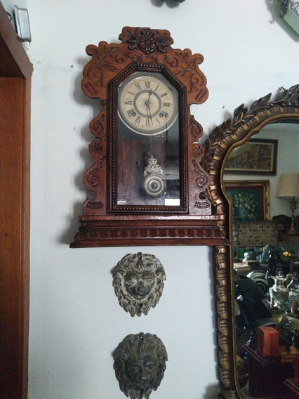 Reloj De Pared O Mesa Ansonia Nueva York Siglo 19 Funciona