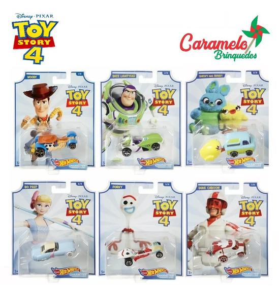 Hot Wheels Toy Story 4 Mattel - 6 Modelos Woody Buzz Forky