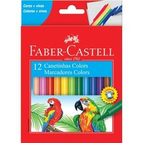 Canetinha Hidrocor Faber Castell 12 Cores+brinde