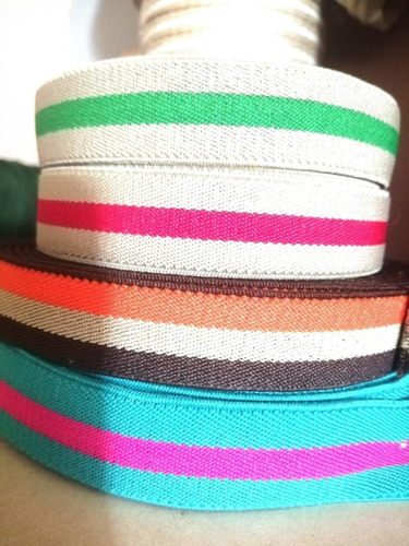 Imagen 1 de 2 de Elástica, Espesor Gruesa Colores,25mm