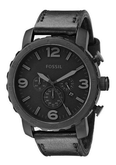 Relógio Masculino Fossil Jr1354/2pn Preto Couro C/ Nfe