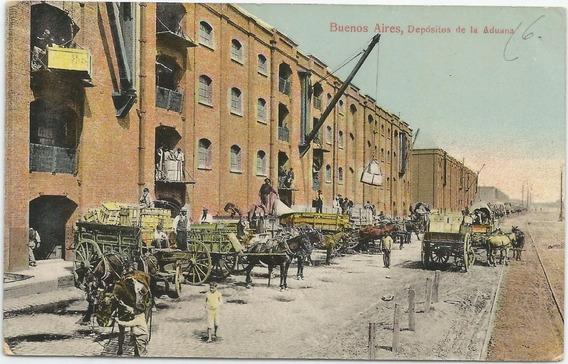 Antigua Postal Depósitos De Aduana Buenos Aires 1913