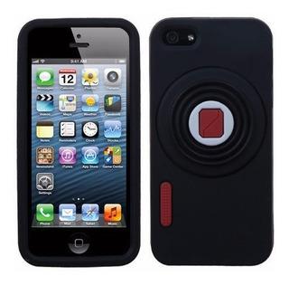 Funda De Cámara Para iPhone 5, 5s Color Negro