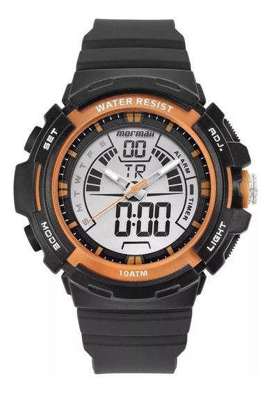 Relógio Anadigi Mormaii Wave Grafite Moad08902/8r