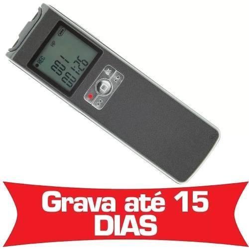 Micro Gravador Digital De Voz Automatico Espiao Ativação Be2