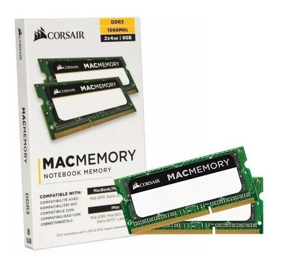 Kit 8gb (2x4gb) 1066mhz Corsair Para Macbook, iMac + Nfe
