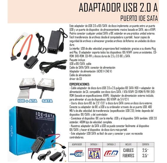 Adaptador Usb 2.0 A Puerto Ide Sata