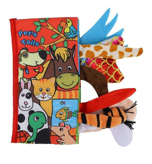 Baby Puzzle Toy Tail Libro De Tela Antidesgarro De Educació
