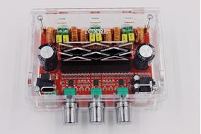 Kit Placa Amplificador 2.1 50w+50w+100w Gabinete Acrílico