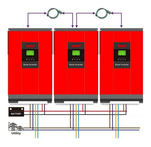 Placa Paralelo Must Para Inversor Solar 4kw/5kw Hasta 15kw