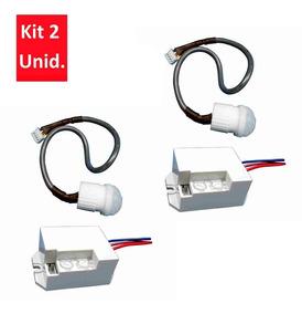 2 Mini Sensores Presença De Embutir P/ Teto E Parede Dni6029