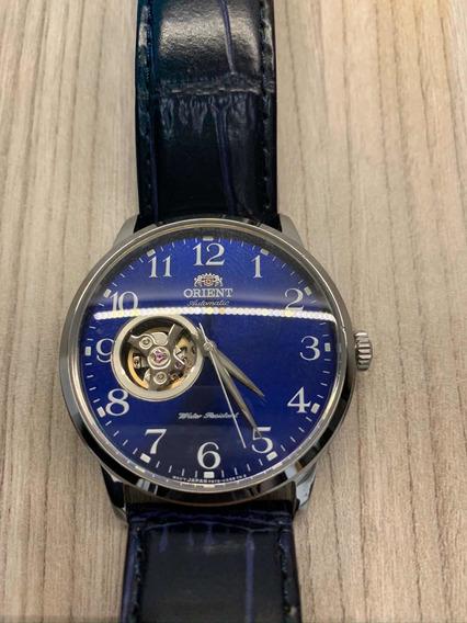 Relógio Orient Semi Skeleton Automático (pulseira Azul)
