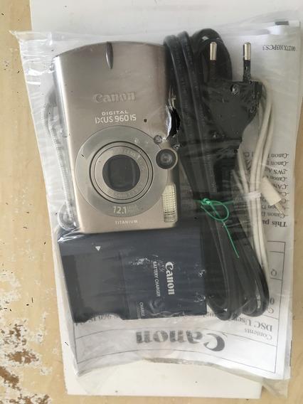 Câmera Digital Canon Ixus 960 Is Titânio 12,1mpx Novinho!!!