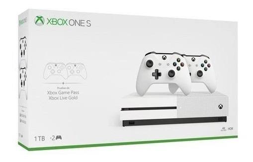 Console Xbox One S De 1 Tb   Dois Controles Sem Fio