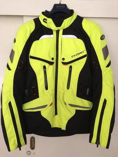 Chamarra Clover Para Motociclista Impermeable Y Protecciones