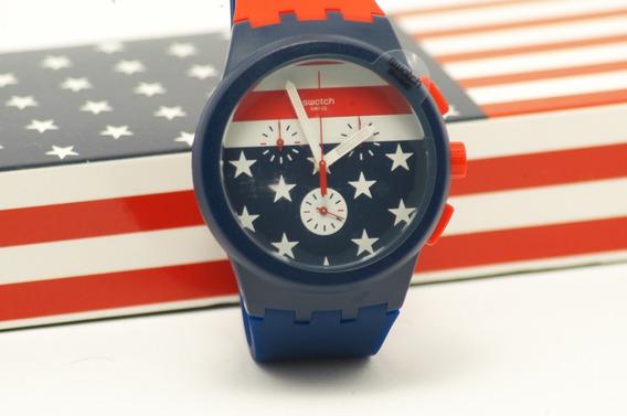 Relógio Swatch - Delegação Americana Das Olimpíadas 2016