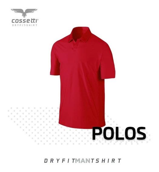 Playera Tipo Polo Cossetti Manga Corta Dry Fit Hombre