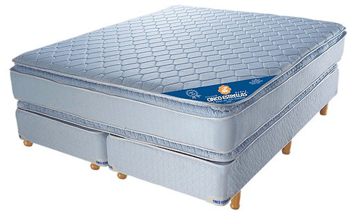 Conjunto Sommier Resortes Super  Con Pillow 1.40 X 1.90