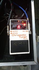 Pedal Afinador Boss Chromatic Tuner Tu-3 Caixa E Manual